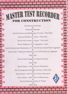 Master TEST RECORDER for Construction