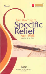 Law Relating to Specific Relief Act,1963