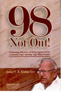 98 NOT OUT ! - Celebrating 98th Year of Living Legend and His Continuing Legal Learning and Dissemination