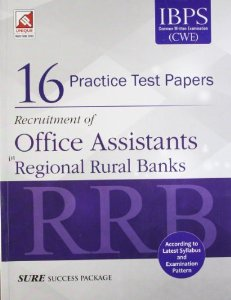 16 Practice test papers for Recruitment of Office Assistants in Regional Rural Banks