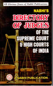 Directory of Judges - of The Supreme Court & High Courts of India