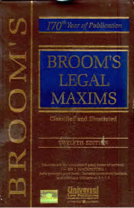 Brooms Legal Maxims (Classified and Illustrated)