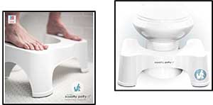 Squatty Potty Toilet Stool (9 inch height) (SP-ECCO-9-WH)
