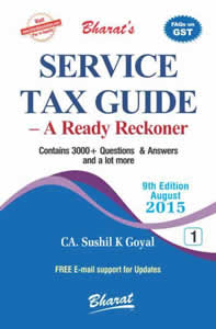 Service Tax Guide - A Ready Reckoner (in 2 Vols.)