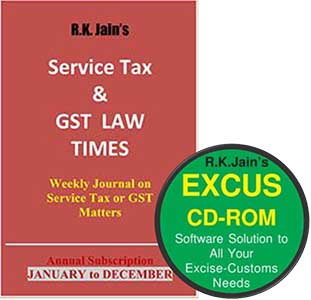 Renewal for Combo - ExCus (DVD)   GST Law Times (weekly) (Half-yearly Subscription for 2017)
