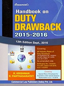 Handbook on DUTY DRAWBACK 2015-2016