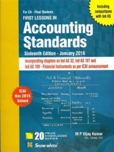 First Lessons in ACCOUNTING STANDARDS (CA Final)