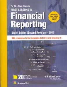 First Lessons in Financial Reporting (for CA Final)