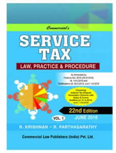 SERVICE TAX Law, Practice & Procedure (Set of 2 Vols.)