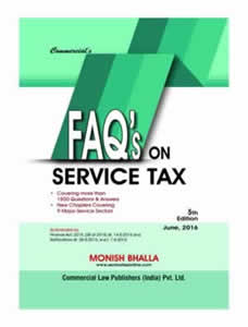 FAQs on Service Tax (covering more than 1800 Questions & Answers)