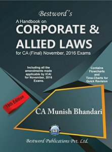 A Handbook on Corporate and Allied Laws (for CA Final) (as applicable for Nov, 2016 Exams)