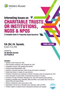 Interesting Issues on Charitable Trusts or Institutions, NGOs, NPOs (A Complete Guide to Frequently Asked Questions)