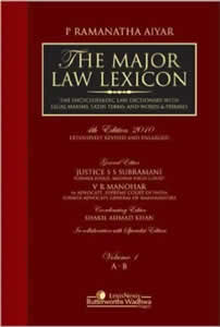 The Major Law Lexicon - The Encyclopaedic Law Dictionary With Legal Maxims, Latin Terms And Words & Phrases (Set of 6 Vols.)