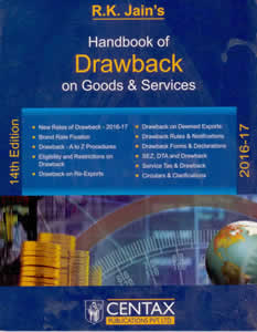 Handbook of DRAWBACK on Goods & Services 2016-17