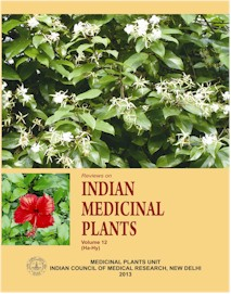 Reviews on Indian Medicinal Plants [Vol. 12 (Ha-Hy)]