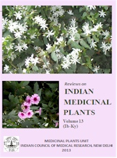 Reviews on Indian Medicinal Plants [Vol. 13 (Ib-Ky)]