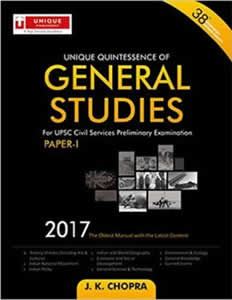 Unique Quintessence of GENERAL STUDIES (Paper I) for the UPSC Civil Services Preliminary Examination