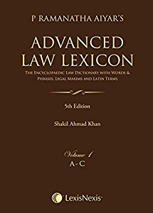 Advanced Law Lexicon – The Encyclopaedic Law Dictionary with Words and Phrases, Legal Maxims and Latin Terms (Set of 4 Volumes)