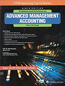 Problems and Solution on Advanced Management Accounting (For CA- Final)