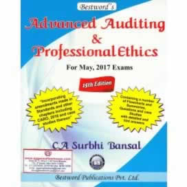 Advanced Auditing and Professional Ethics [for CA (Final)] (as Applicable for May, 2017 Exams)