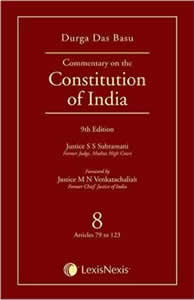 Commentary on the Constitution of India (Vol. 8 of a Set of 10 Vols.) (Covering Articles 79 to 123)