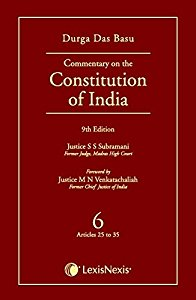 Commentary on the Constitution of India (Vol.6 of a Set of 10 Vols.) (Covering Articles 25 to 35)