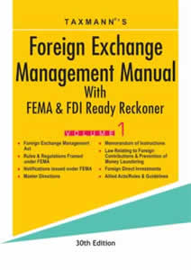 Foreign Exchange Management Manual With FEMA & FDI Ready Reckoner (Set of 2 Volumes)
