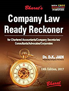 Company Law Ready Reckoner (Based on the Companies Act, 2013 & Rules)