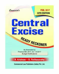 Central EXCISE Ready Reckoner