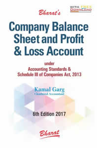 Company Balance Sheet and Profit & Loss Account (Under Accounting Standards & Schedule III of Companies Act, 2013)