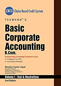 Basic Corporate Accounting -B.Com (Set of two volumes) (Choice based Credit System(CBCS)