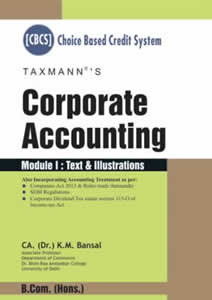 Corporate Accounting (Set of 2 Modules) - B.Com (Hons.) Choice based Credit System(CBCS)