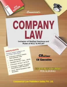 Company Law - for CS Executive Programme