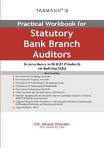 Practical Workbook for Statutory Bank Branch Auditors In accordance with ICAI Standards on Auditing (SAs)