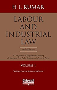 Labour & Industrial Law (in 2 Vols.   Free Case Referencer)