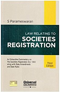 Law Relating to the SOCIETIES REGISTRATION