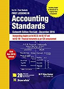 First Lessons in ACCOUNTING STANDARDS (CA Final) with Ready Referencer