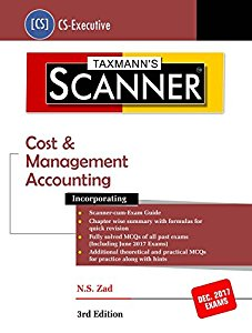 Scanner - Cost & Management Accounting (CS-Executive) For Dec. 2017 Exams