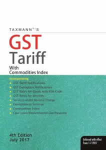 GST Tariff (with Commodities Index & 8-digit HSN Codes)