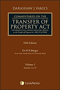 Commentaries on the TRANSFER OF PROPERTY ACT (in 2 Vol)