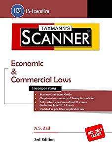 Scanner - Economic & Commercial Laws (CS-Executive) For Dec. 2017 Exams