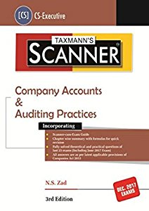 Scanner - Company Accounts & Auditing Practices (CS Executives) For Dec. 2017 Exams