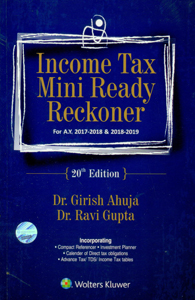 Income Tax Mini Ready Reckoner (For A.Y. 2017-2018 & 2018-2019)