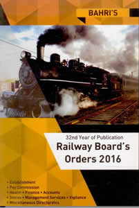 RBO 2016 (Railway Boards Orders on Establishment Matters)