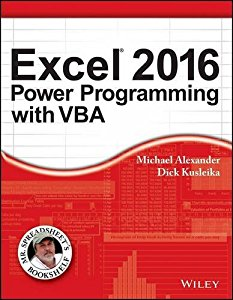 Excel 2016 Power Programming with VBA (MISL-WILEY series)