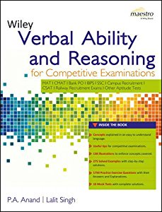 Wileys Verbal Ability and Reasoning for Competitive Examinations (WIND series)