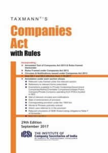 Companies Act 2013 with Rules (Pocket edition)