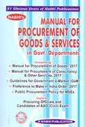 Manual For PROCUREMENT of Goods & Services in Govt. Departments