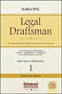 Hargopals Legal DRAFTSMAN - A Comprehensive Guide to Deeds and Documents in 2 Vols. (with Free Editable CD of Drafts)