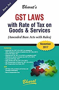 GST Laws with Rate of Tax on Goods &  Services